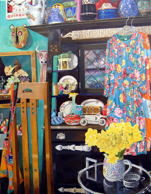 Artist Jon Wealleans Kitchen Kitsch paintings