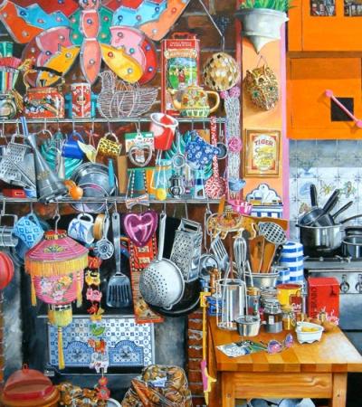 Artist Jon Wealleans Kitchen Kitsch paintings